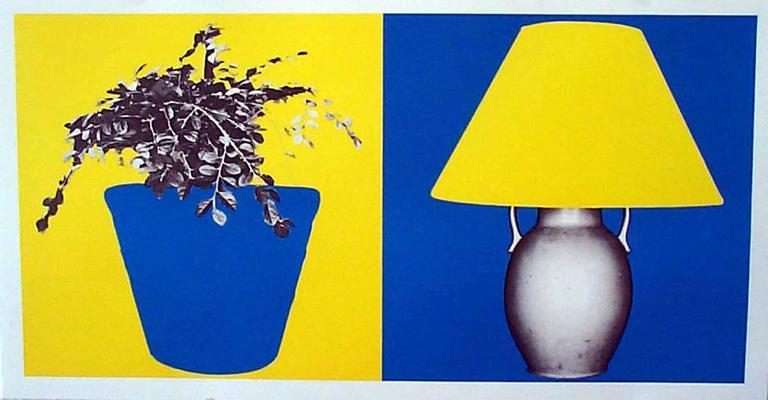 John Baldessari - Plant and Lamp (B+Y; Y+B) 1