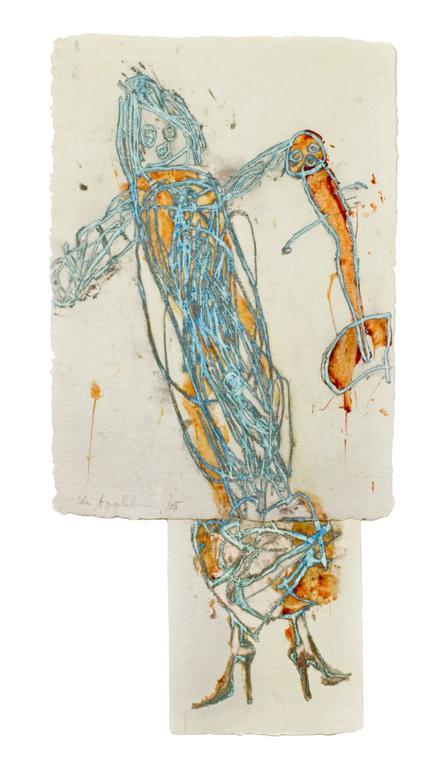 Ida Applebroog Figurative Print - Progeny Suite: Prada