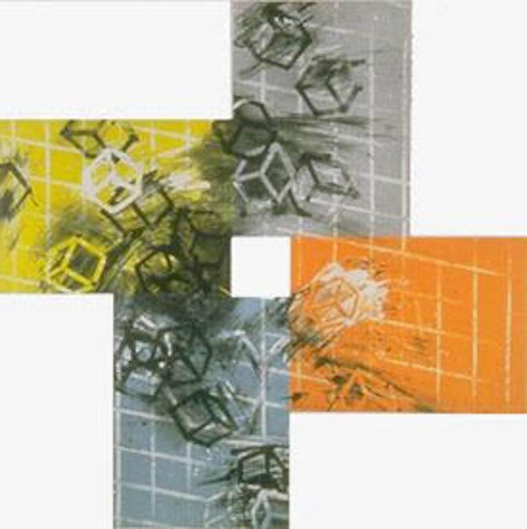 Four Color Quartets (First Quartet) - Brown Abstract Print by Mel Bochner