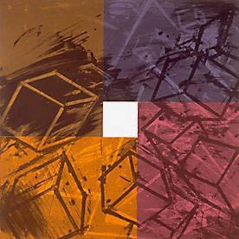 Mel Bochner Abstract Print - Four Color Quartets (First Quartet)
