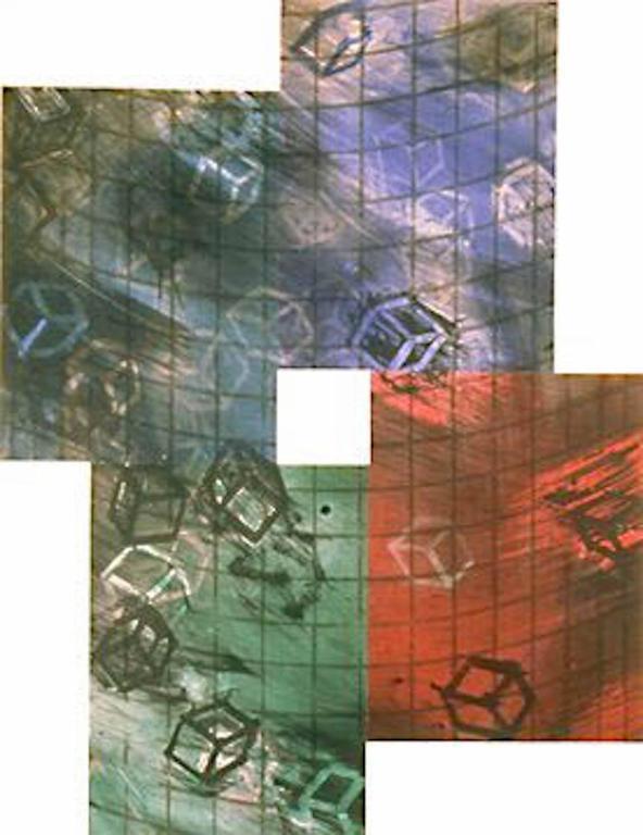 Four Color Quartets (First Quartet) - Contemporary Print by Mel Bochner