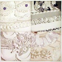 White on White (Four Sections of Wedding Cake)