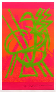 Untitled, Pink and Orange screenprint