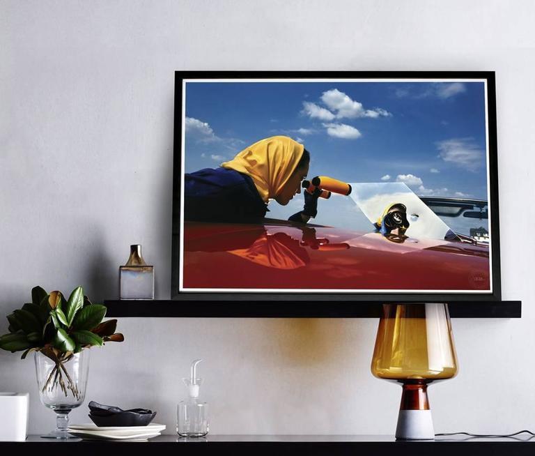 Fashion Portrait (Red Convertible) - Photograph by Steve Hiett