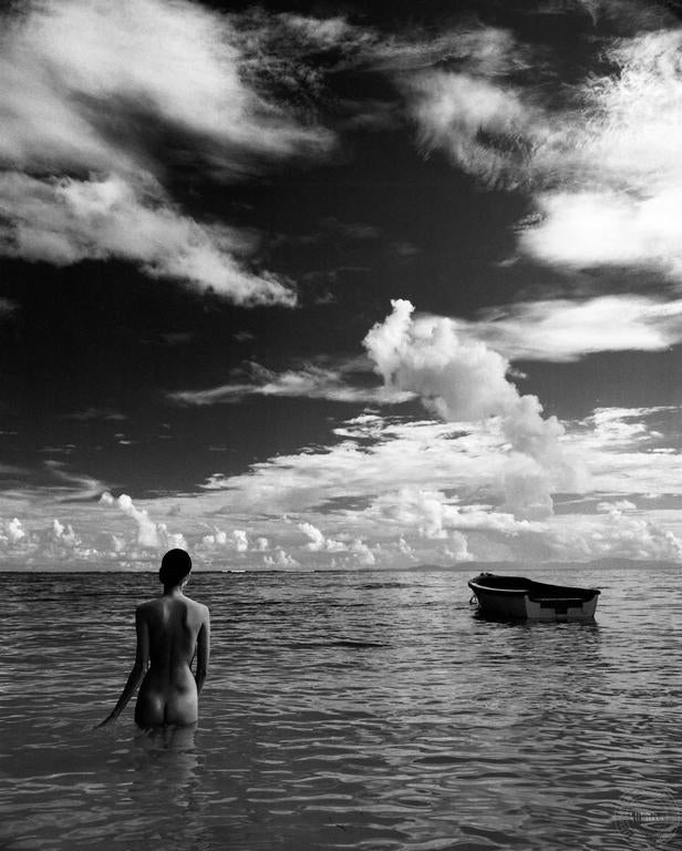 Patric Shaw Black and White Photograph - Nude (Woman in Water)