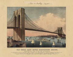 The Great East River Suspension Bridge.  : Connecting the Cities of New York...