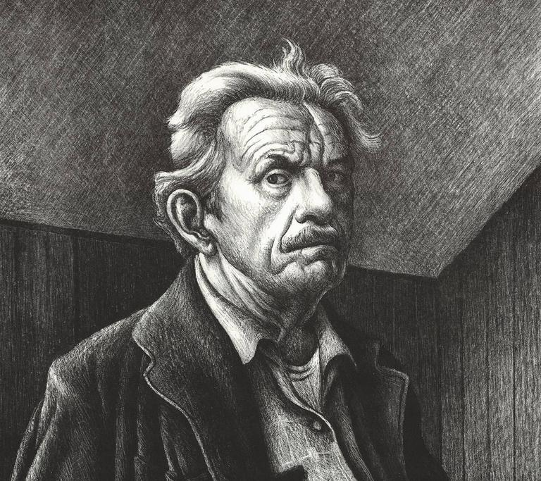 Self-Portrait. - Print by Thomas Hart Benton