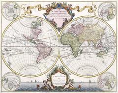 Mappe-Monde Dresse sur les Observations de Mrs. De L'Academie Royale des Science
