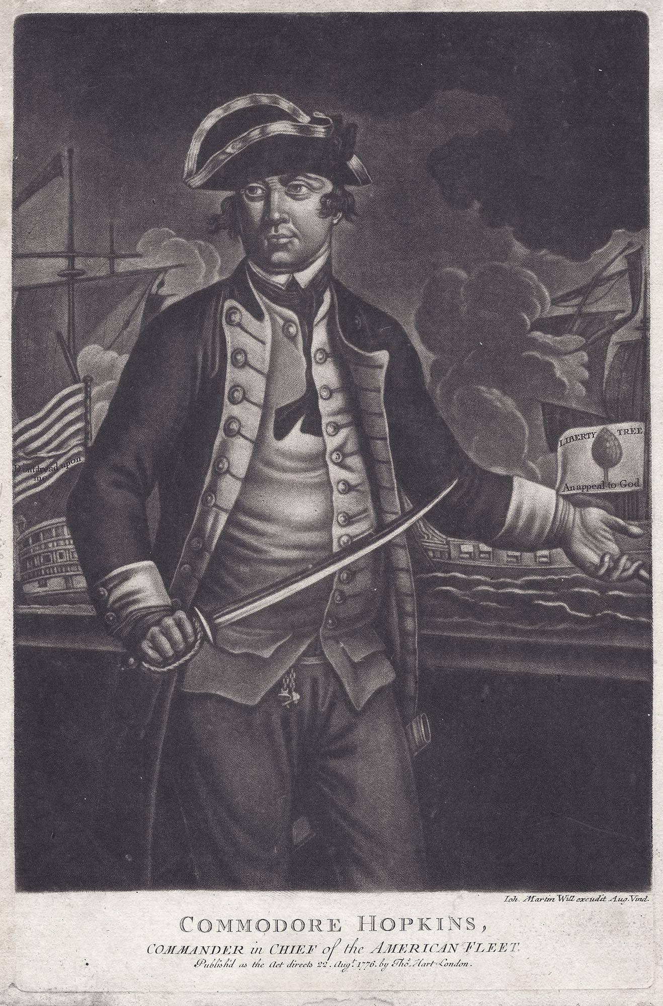Commodore Hopkins, : Commander in Chief of the American Fleet.