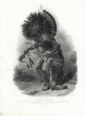 Pehriska-Ruhpa.  [Minatarri Warrior in the Costume of the Dog Dance.].  Tab. 23.
