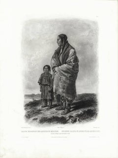 Dacota Woman and Assiniboin Girl.  Tab 9.