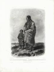 Dacota Woman and Assiniboin Girl.  Tab 9.