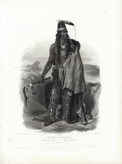 Abdih-Hiddisch. A Minatarre Chief. Tab 24.