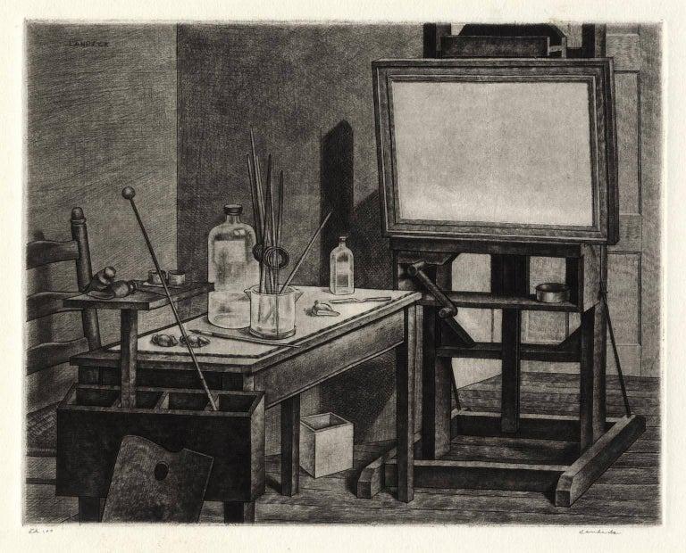 Armin Landeck Interior Print - Studio Interior #2.