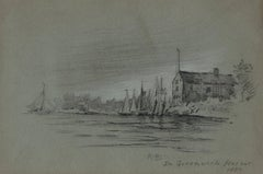 In Greenwich Harbor.