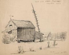 Old Hut Near Ship Yard.  Madison, Conn.
