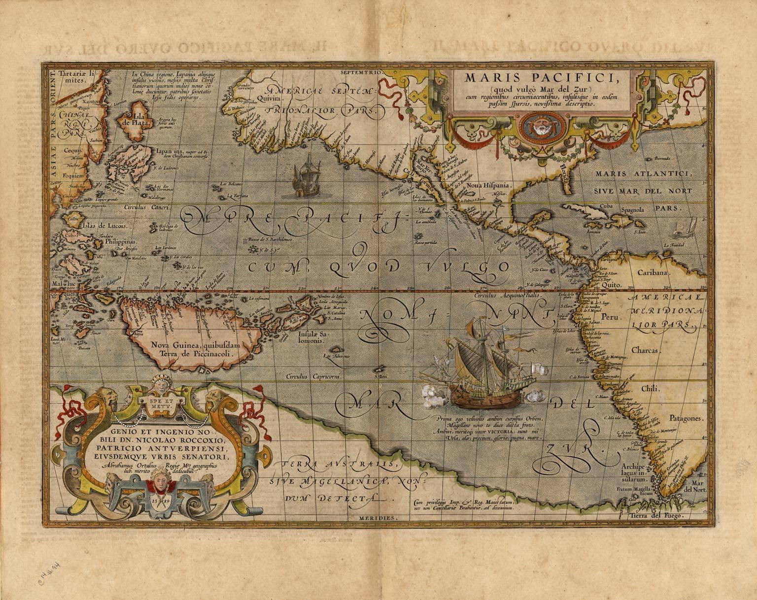 Maris Pacifici, (quod vulgo Mar del Zur)....
