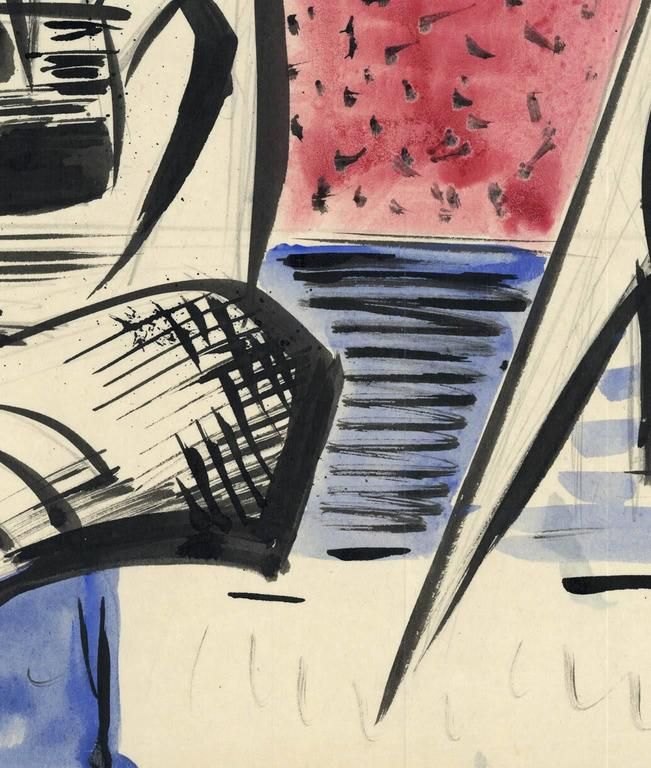 Untitled. Forms. - Abstract Expressionist Art by Werner Drewes