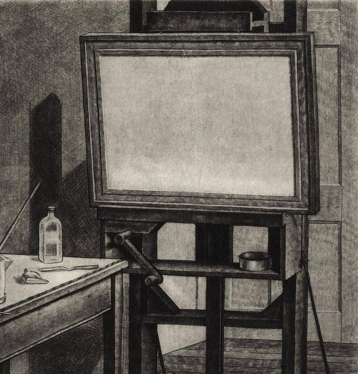 Studio Interior #2. - Black Interior Print by Armin Landeck