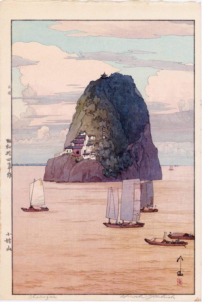 Hiroshi Yoshida Landscape Print - Shokozan (The Chinese Island Xiaogushan)