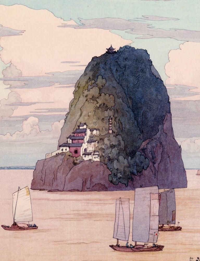 Shokozan (The Chinese Island Xiaogushan) - Print by Hiroshi Yoshida