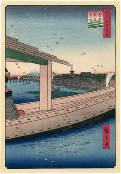 Distant View of Kinryuzan Temple and Azuma Bridge