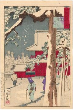 Zojoji Temple, Shiba, in the Snow