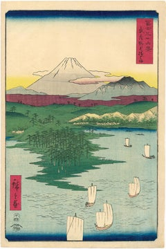 Mount Fuji and Sailboats from 36 Views of Mount Fuji