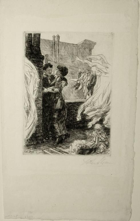 Love on the Roof. - Print by John Sloan