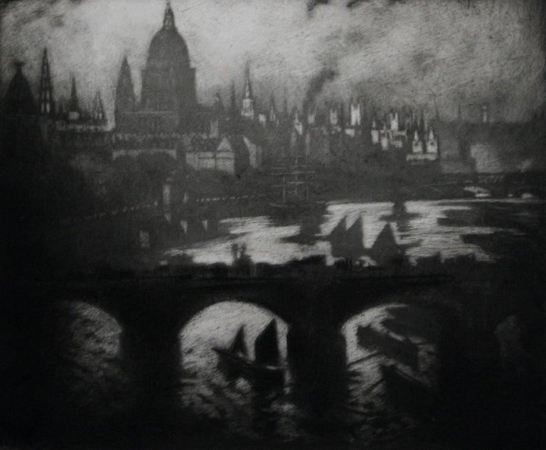 Wren's City - Print by Joseph Pennell