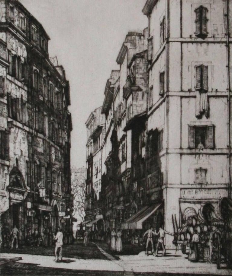 Louis Conrad Rosenberg Landscape Print - Via del Pianta, Rome