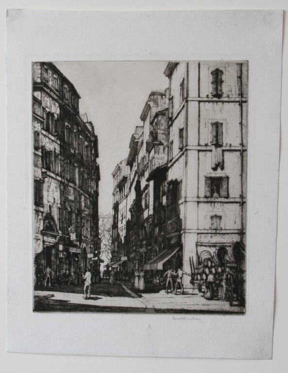 Via del Pianta, Rome - Print by Louis Conrad Rosenberg