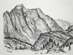 Cascade Mountain Landscape: Glacier National Park, Montana