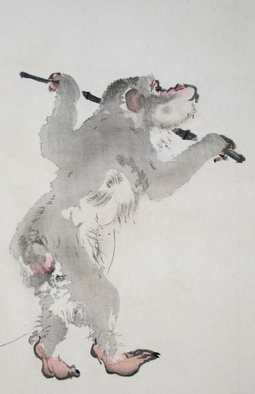 Takeuchi Seiho Animal Print - [Monkey Business].