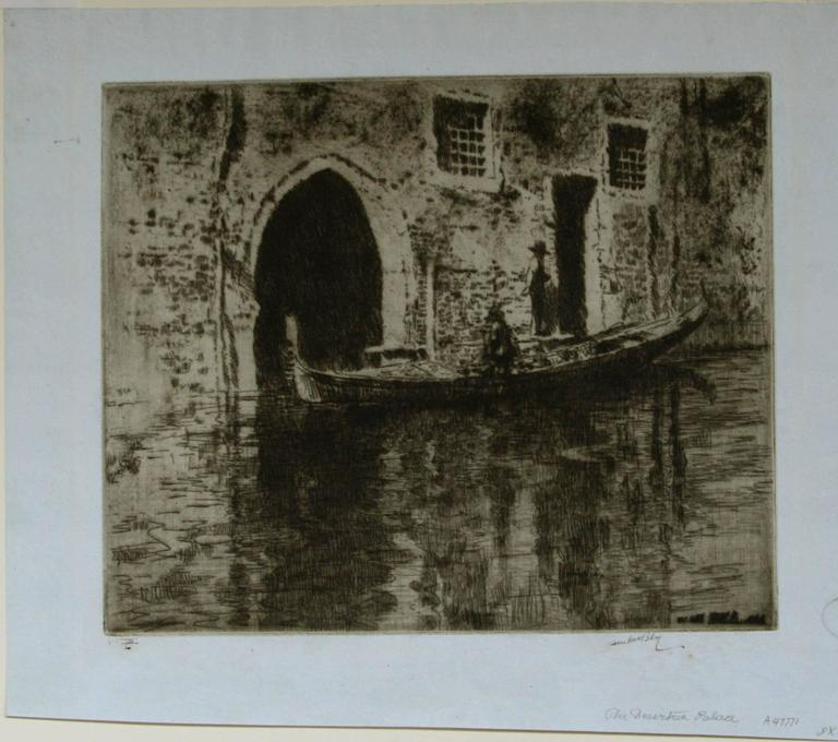 The Deserted Palace. - Print by James McBey.