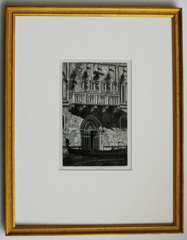 The Balcony (Venetian Gateway). - American Modern Print by John Taylor Arms