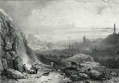 Edimbourg de la Chapelle St. Antione. (Edinburgh from St. Anthony's Chapel).