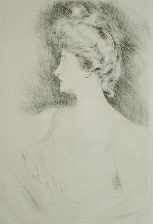 Paul César Helleu Portrait Print - Lady Carnarvon.