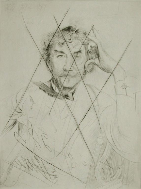 Portrait of Whistler with the Monacle.