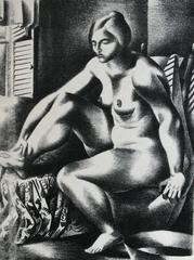 Bather (Nude Bather, Seated, Facing Window).