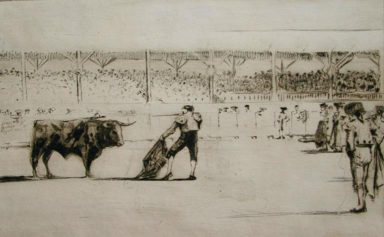 James McBey. Animal Print - The Matador.
