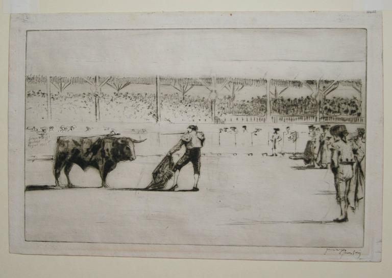 The Matador.  - Print by James McBey.