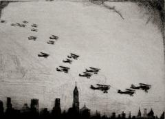 Curtiss Hawkes over N.Y.C.