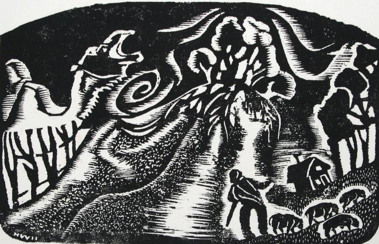 Helen West Heller. American. Landscape Print - Dune