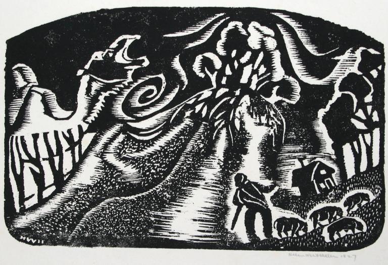 Dune - Print by Helen West Heller. American.