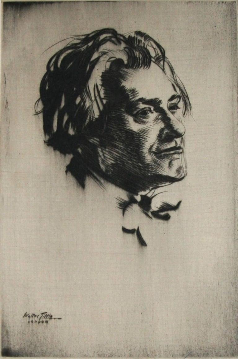Walter Tittle Figurative Print - Portrait of James McBey.