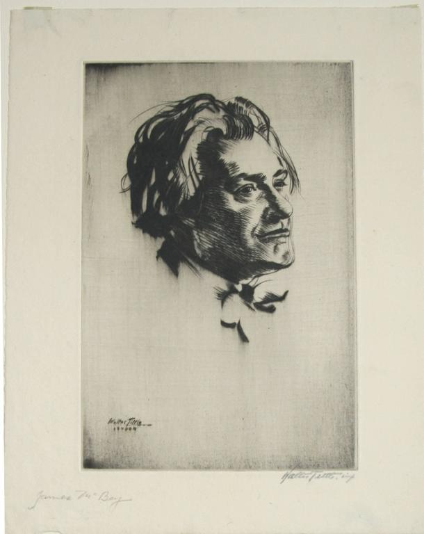 Portrait of James McBey. - Print by Walter Tittle