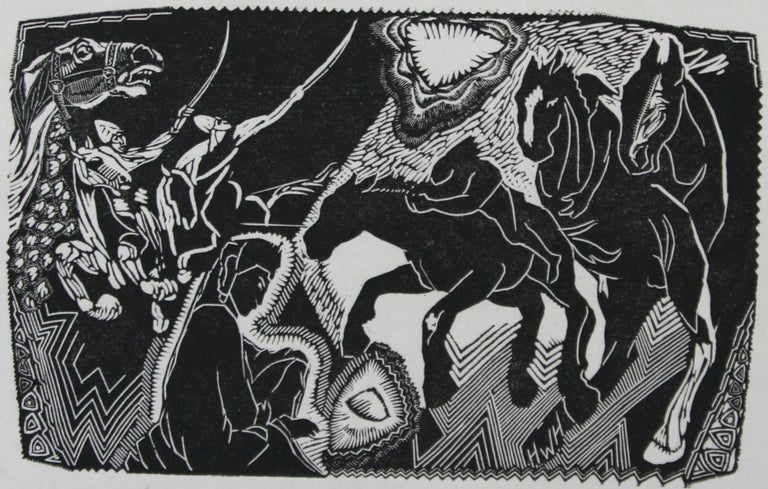 Helen West Heller. American. Animal Print - Hooves