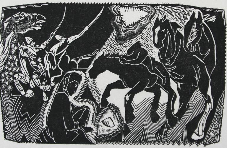 Hooves - Print by Helen West Heller. American.