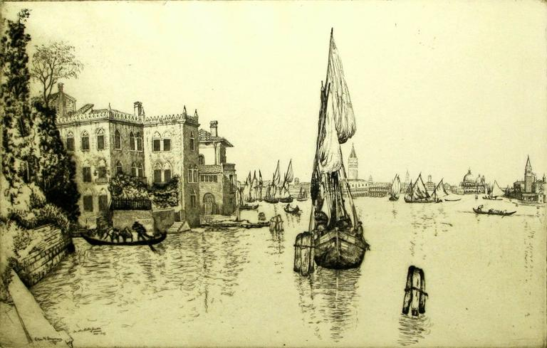 Old Palaces on the Lagoon, Venice.